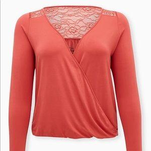 Nwt Torrid size 3 super soft lace Surplice Top